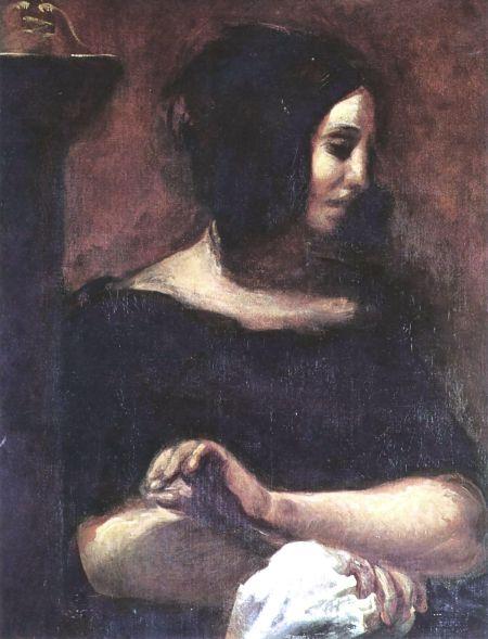 George Sand by Eugène Delacroix