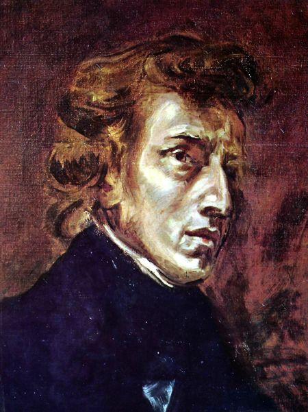 Frédéric Chopin by Eugène Delacroix